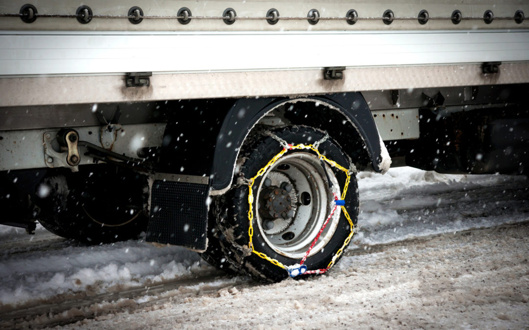 Importance Tire Chains for Semi Trucks